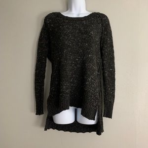 Free People Black Boucle Dolman Sweater XS D1